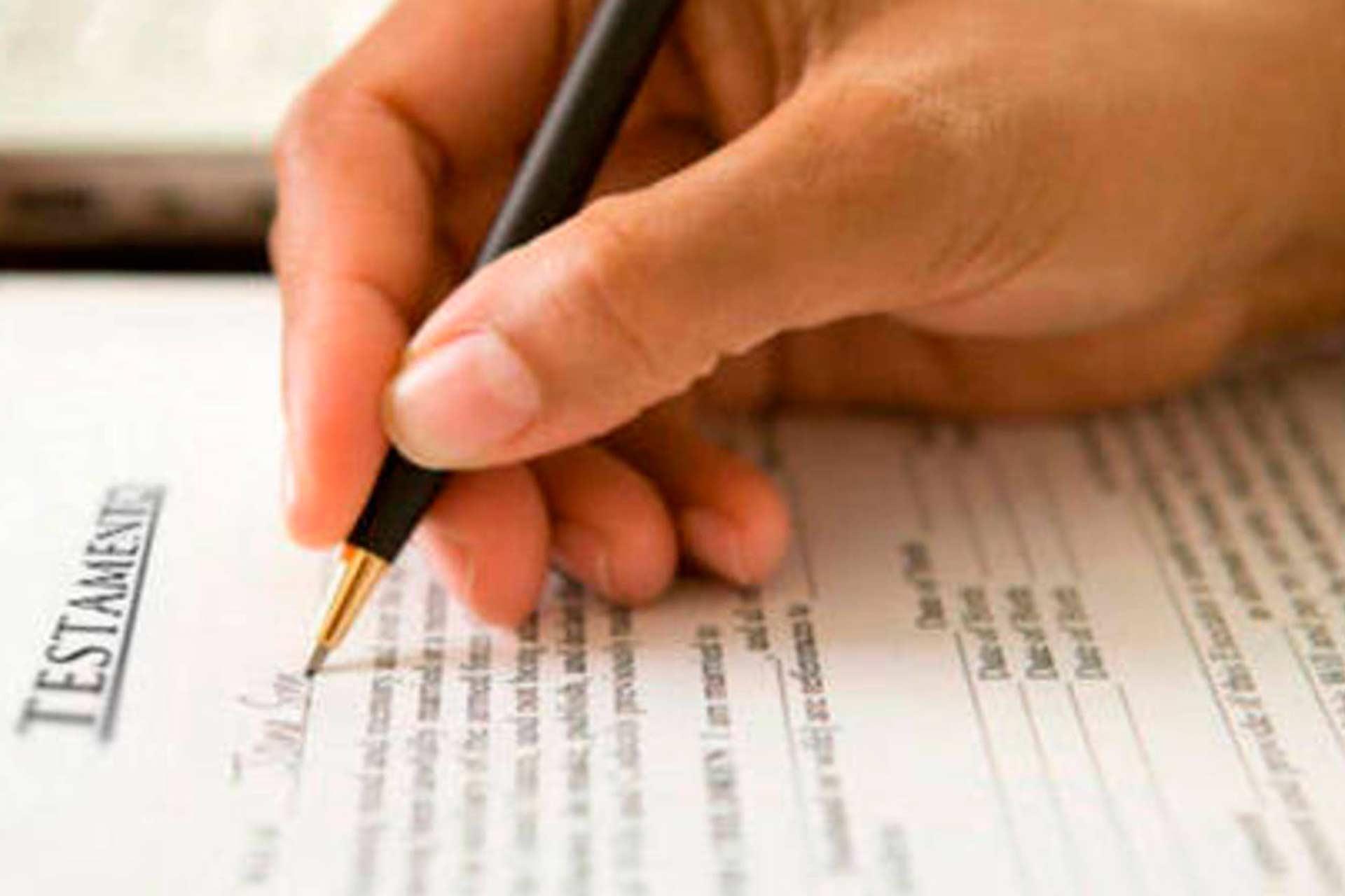 Inscripción de testamentos