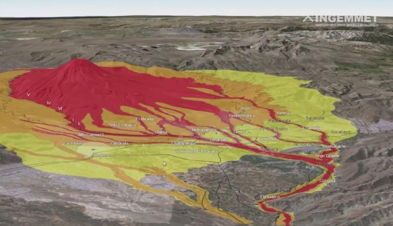 Zonas de riesgo volcanico Arequipa