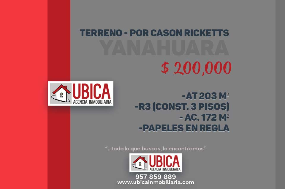 Casa como terreno Yanahuara | UBICA Inmobiliaria