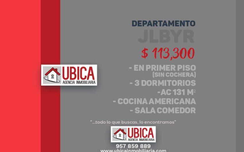 placa Departamento 3 dormitorios Jose Luis bustamante y Rivero