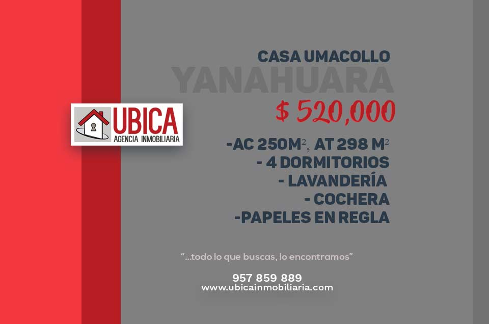 Casa en venta Umacollo