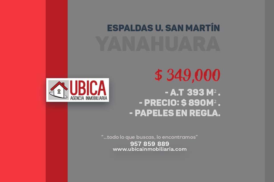 Terreno Taboada Yanahuara | Ubica Inmobiliaria