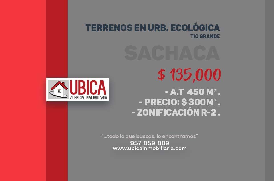 Urb San Agustín Sachaca | Terreno en venta